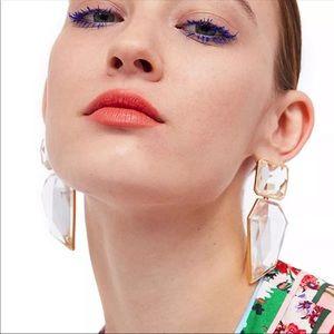 Big Clear Acrylic Earrings